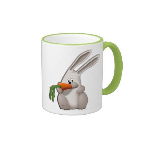 Rabbit Eating A Carrot Ringer Coffee Mug