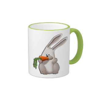 Rabbit Eating A Carrot Ringer Mug