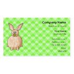Rabbit eating a flower. business card template