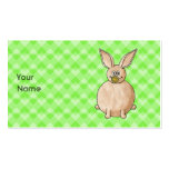 Rabbit eating a flower. business cards