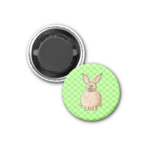 Rabbit eating a flower. fridge magnet