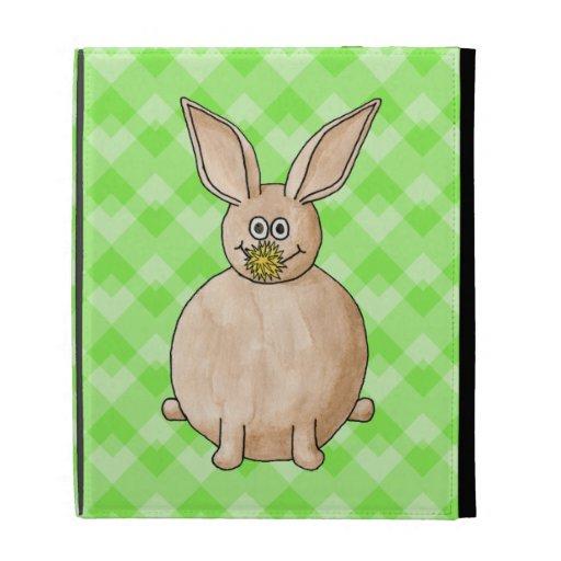 Rabbit eating a flower. iPad case