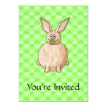 Rabbit eating a flower. personalized announcements