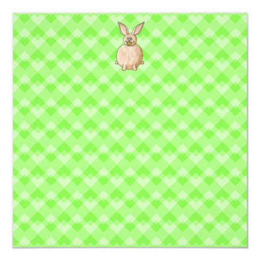 Rabbit eating a flower. personalized invitation