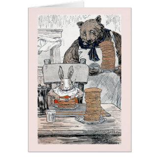 Rabbit Eating Pancake Breakfast Cards
