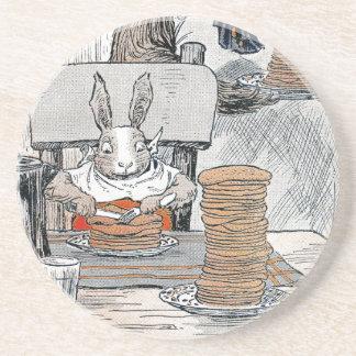 Rabbit Eating Pancake Breakfast Drink Coasters
