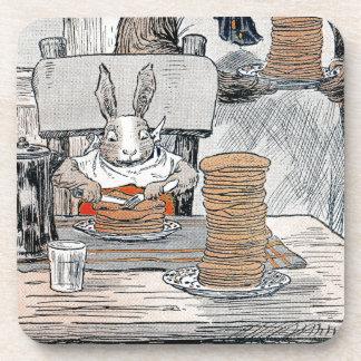 Rabbit Eating Pancake Breakfast Drink Coaster