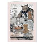 Rabbit Eating Pancake Breakfast Greeting Card
