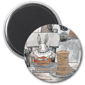Rabbit Eating Pancake Breakfast Fridge Magnet