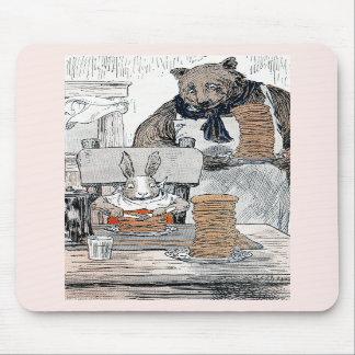Rabbit Eating Pancake Breakfast Mousepad