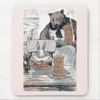 Rabbit Eating Pancake Breakfast Mouse Pad
