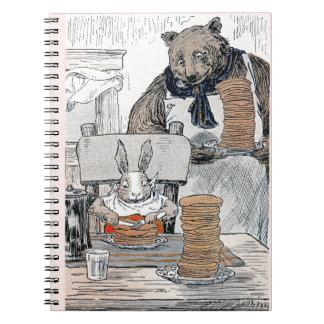 Rabbit Eating Pancake Breakfast Spiral Note Book