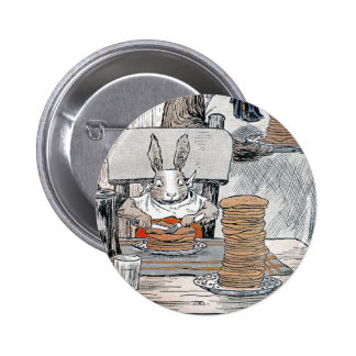 Rabbit Eating Pancake Breakfast Pinback Button