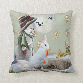 Rabbit Eats Snowman's Nose Pillows
