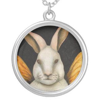 Rabbit Fairy Round Pendant Necklace