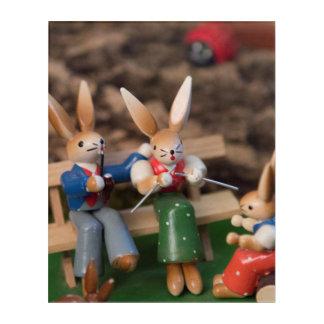 Rabbit Family Easter Acrylic Wall Art