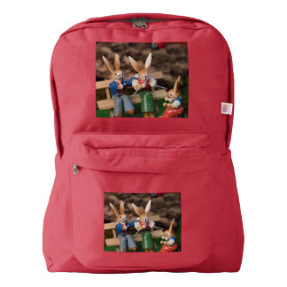 Rabbit Family Easter American Apparel™ Backpack