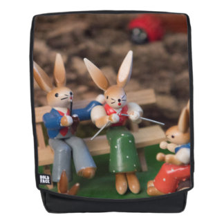 Rabbit Family Easter Backpack