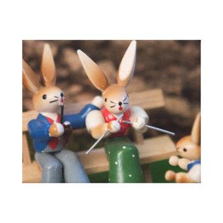Rabbit Family Easter Canvas Print