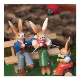 Rabbit Family Easter Card