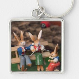 Rabbit Family Easter Keychain