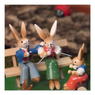 Rabbit Family Easter Magnetic Card