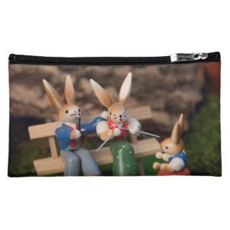 Rabbit Family Easter Makeup Bag