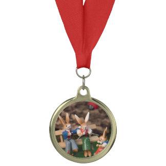 Rabbit Family Easter Medal