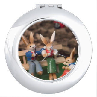 Rabbit Family Easter Mirror For Makeup