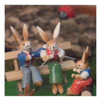 Rabbit Family Easter Panel Wall Art