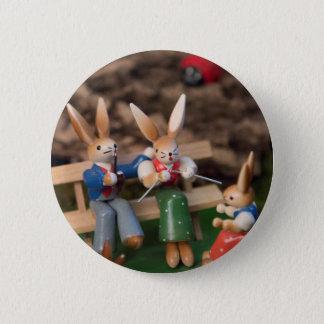 Rabbit Family Easter Pinback Button