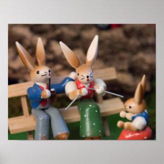 Rabbit Family Easter Poster