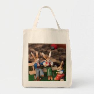 Rabbit Family Easter Tote Bag