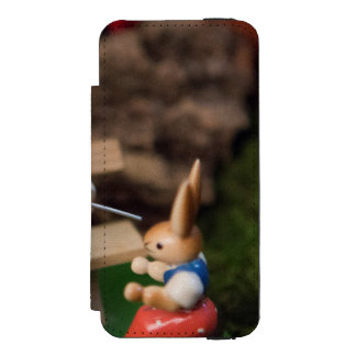Rabbit Family Easter Wallet Case For iPhone SE/5/5s