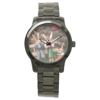 Rabbit Family Easter Wrist Watch