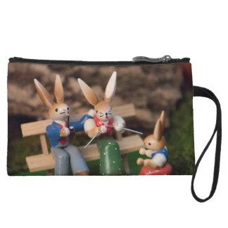 Rabbit Family Easter Wristlet