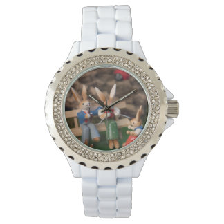Rabbit Family Easter Wristwatch