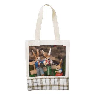 Rabbit Family Easter Zazzle HEART Tote Bag