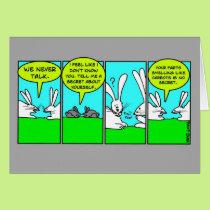 Rabbit Farts (Greeting Card) Card