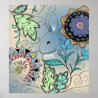 Rabbit Floral Print