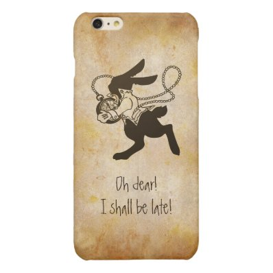Rabbit from Alice in Wonderland Funny Quotes Glossy iPhone 6 Plus Case