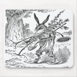 Rabbit Gardener with Shovel & Uprooted Plants Mouse Pad