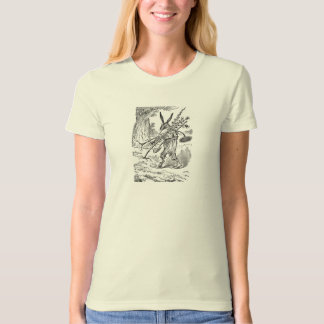 Rabbit Gardener with Shovel & Uprooted Plants T-Shirt