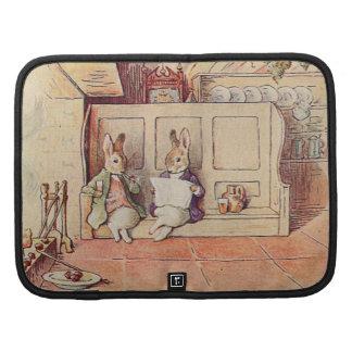 Rabbit Gentlemen at the Fireplace Folio Planners