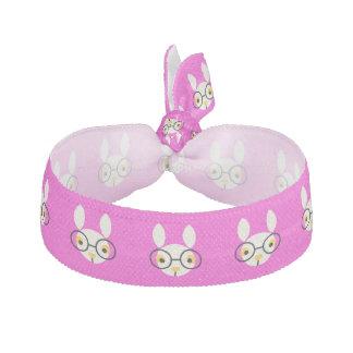 Rabbit Glasses Animals Cute Pink Elastic Hair Tie