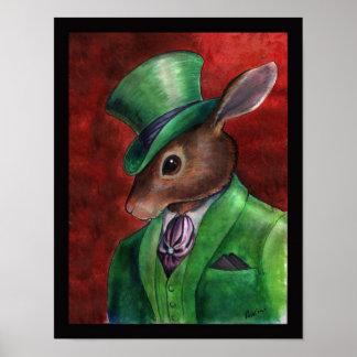 Rabbit Haberdashery by Portia St Luke Poster