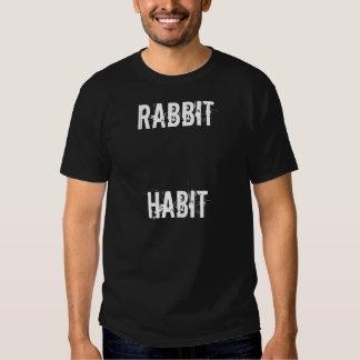 rabbit habit tee shirt