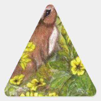 Rabbit - Happy Easter Triangle Sticker