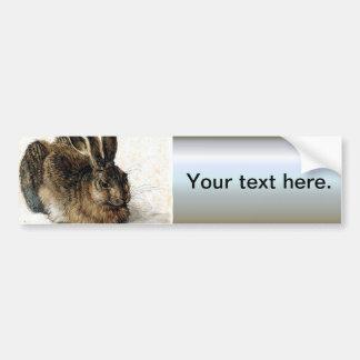 Rabbit Hare in the Snow - Durand Car Bumper Sticker