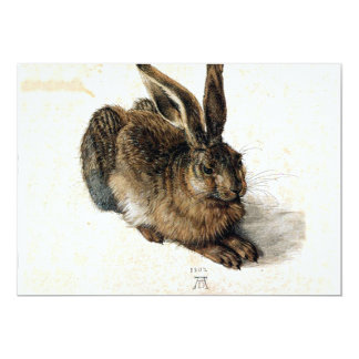 Rabbit Hare in the Snow - Durand Card
